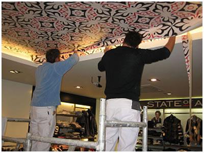 behang plafond badkamer beste ideen over behang plafond